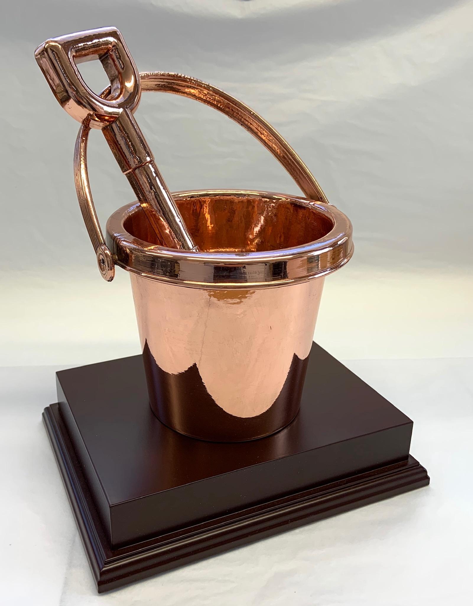 Copper Bucket & Spade