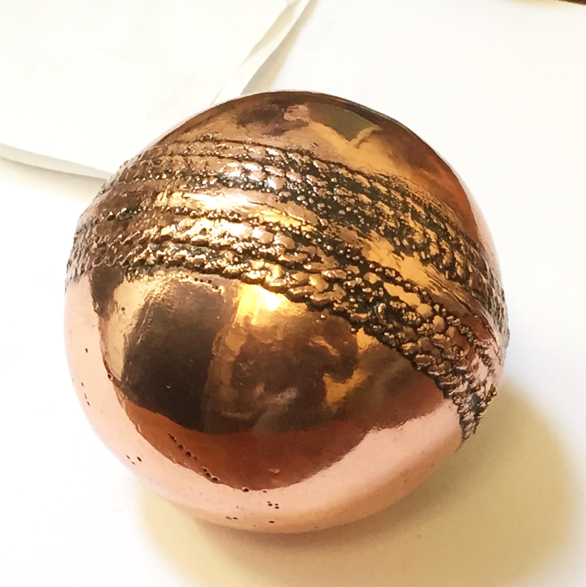 Copper Cricket Ball